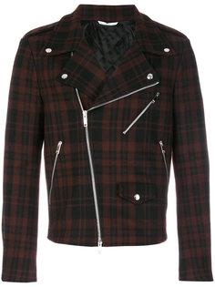 клетчатая байкерская куртка Valentino