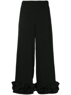 широкие брюки с оборками Vivetta