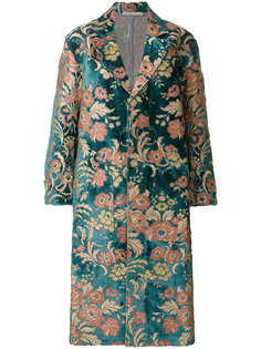 жаккардовое свободное пальто с цветочным узором  Ermanno Gallamini