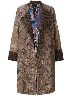 свободное жаккардовое пальто  Ermanno Gallamini