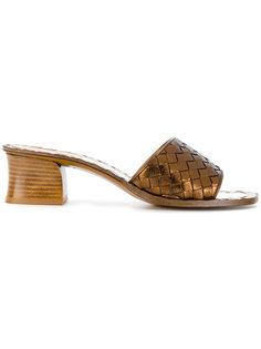 босоножки на массивном каблуке Bottega Veneta