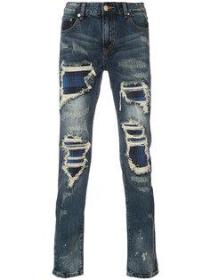 джинсы скинни с потертой отделкой Gods Masterful Children