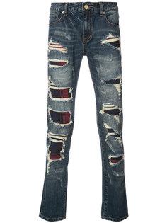 джинсы со вставками в клетку Gods Masterful Children