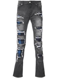 джинсы со вставками в клетку Strati  Gods Masterful Children
