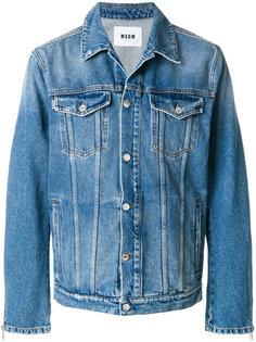 свободная джинсовая куртка MSGM