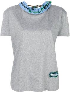 футболка с вязаными деталями Prada