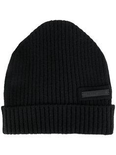 ребристая вязаная шапка Prada