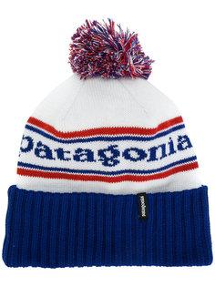 шапка вязки интарсия с логотипом Patagonia