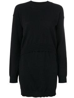 трикотажное платье с круглым вырезом Mm6 Maison Margiela