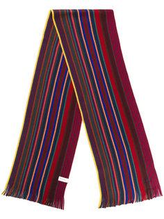 полосатый трикотажный шарф Paul Smith