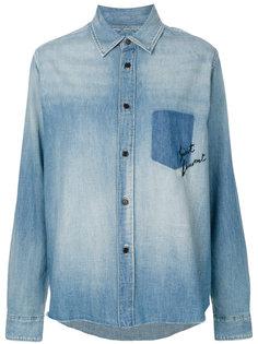 свободная рубашка с вышивкой  Saint Laurent
