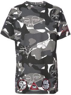 футболка с камуфляжным принтом Haculla