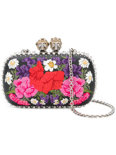 клатч Queen and King с цветочным узором Alexander McQueen