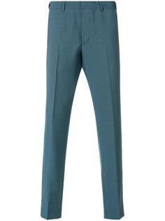 брюки с контрастной деталью на поясе Prada