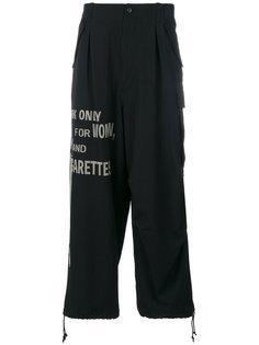 брюки с графическим принтом Yohji Yamamoto