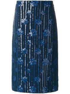 юбка-карандаш с отделкой пайетками  Marni