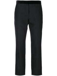 укороченные брюки с бархатной отделкой  Paul Smith
