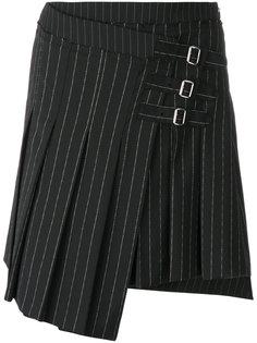 юбка в полоску с запахом  McQ Alexander McQueen