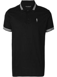 футболка-поло с принтом вспышки молнии Neil Barrett