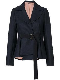 приталенный пиджак под пояс Jil Sander Navy