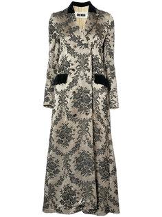 жаккардовое двубортное пальто  Uma Wang