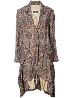 драпированное пальто Uma Wang