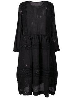 платье с плетеным узором Uma Wang
