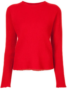 ribbed cut edge sweater The Elder Statesman