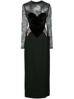 приталенное длинное платье  Elie Saab