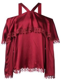 блузка с кружевной оторочкой Jonathan Simkhai