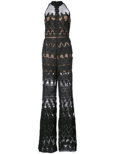 jumpsuit with sheer panels Nicole Miller