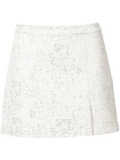 metallic print mini skirt Rachel Zoe
