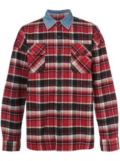 клетчатая рубашка с джинсовым воротником Fear Of God