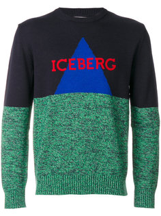 толстовка дизайна колор-блок Iceberg