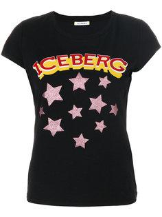 футболка с логотипом и звездами  Iceberg