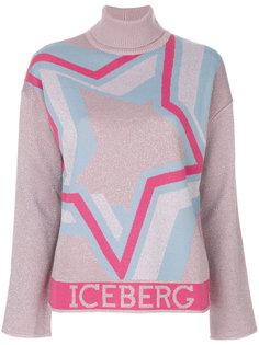 свитер с вышитой звездой  Iceberg