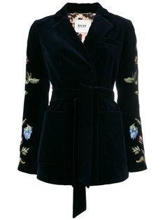 пиджак под пояс с вышивкой Bazar Deluxe