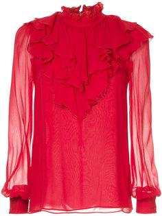 блузка с оборкой  Giambattista Valli