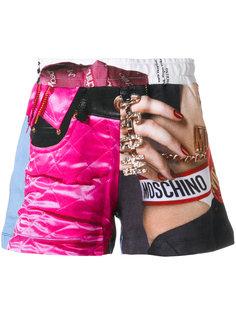 шорты с принтом Moschino