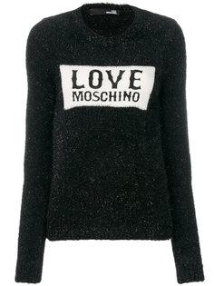 джемпер с логотипом вязки интарсия Love Moschino