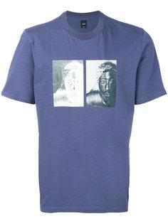 футболка с комбинированным принтом Oamc