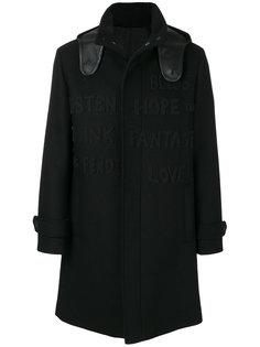 пальто с графическим принтом Fendi