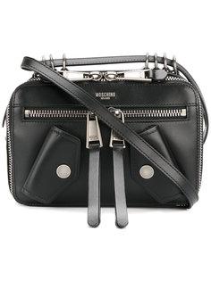 байкерская сумка через плечо Moschino