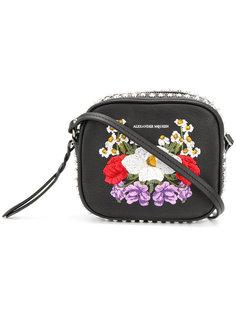 сумка через плечо с цветочной вышивкой Alexander McQueen