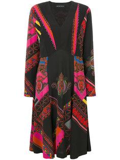 платье с длинными рукавами и узором  Etro