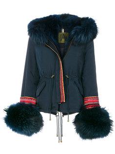 пальто с мехом енота Alessandra Chamonix
