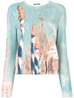 свитер с рисунком Alberta Ferretti