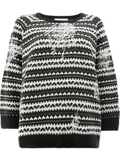 вязаный свитер с узором из сердец Lamberto Losani