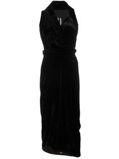 платье без рукавов с драпировкой  Rick Owens