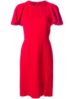 платье с оборками на рукавах  Giambattista Valli